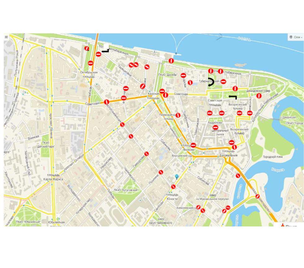 9 мая в центре Ярославля ограничат движение