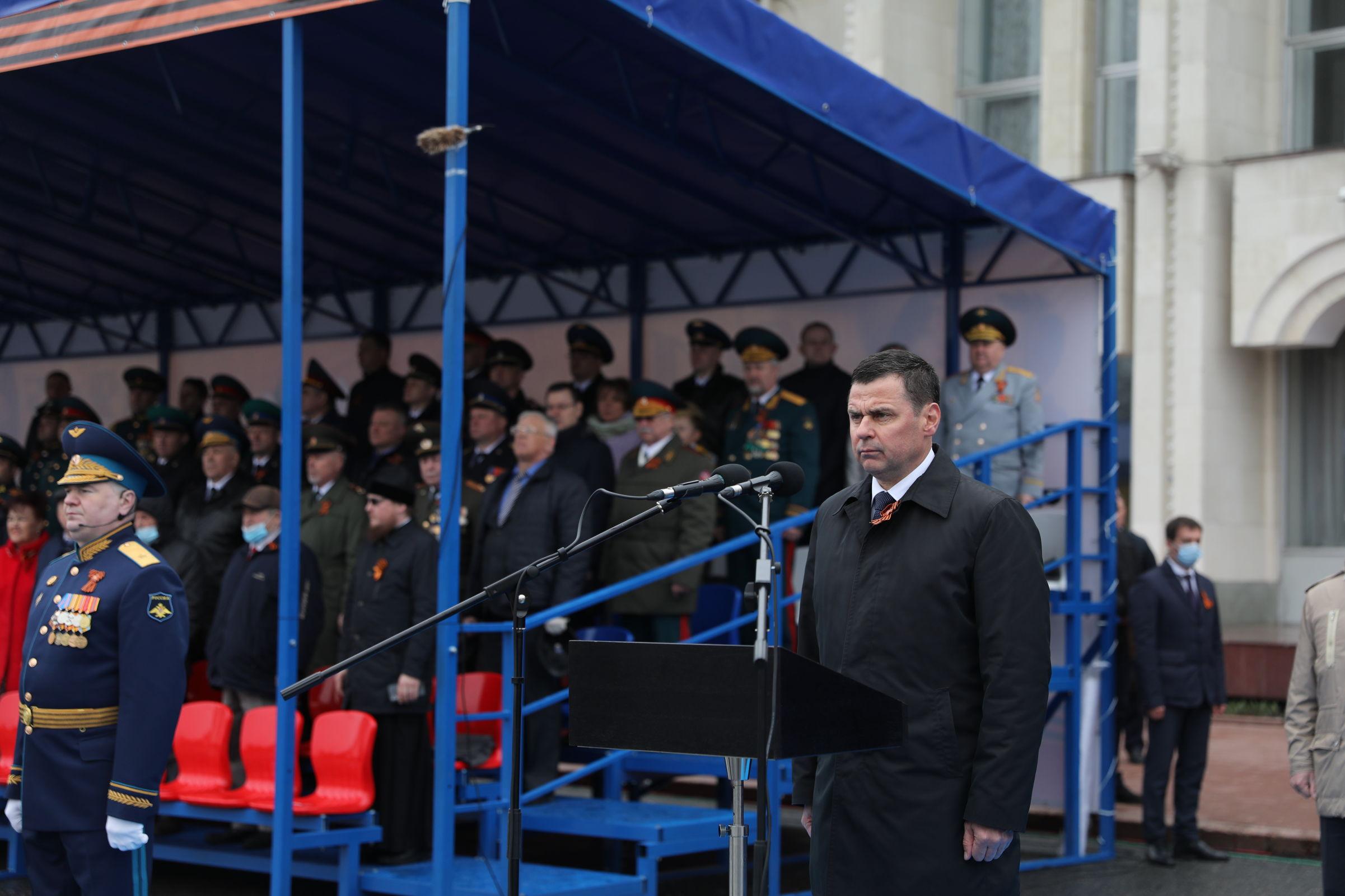 В центре Ярославля прошел Парад Победы: фото