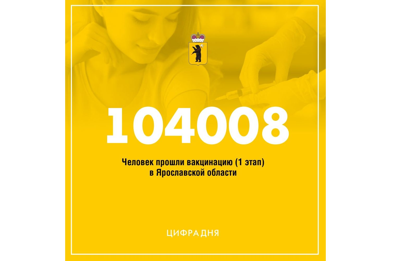 В Ярославской области вакцинацию от коронавируса прошло больше 104 тысяч человек