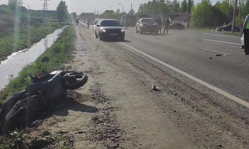 В Ярославле в аварии погиб водитель скутера