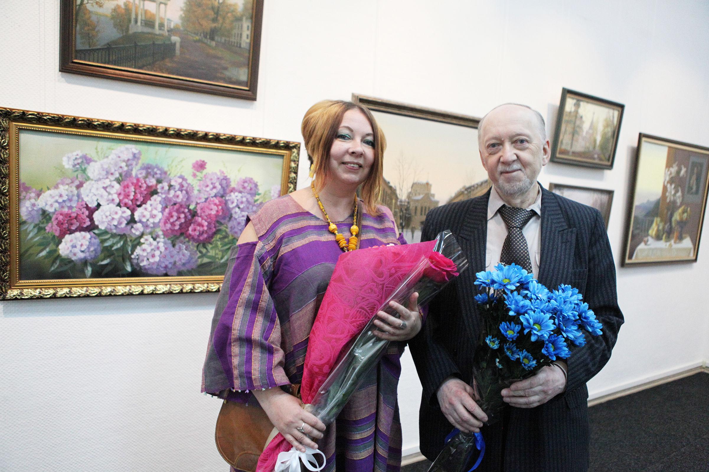 Ярославский художник отметил 50-летие творческой деятельности юбилейной выставкой