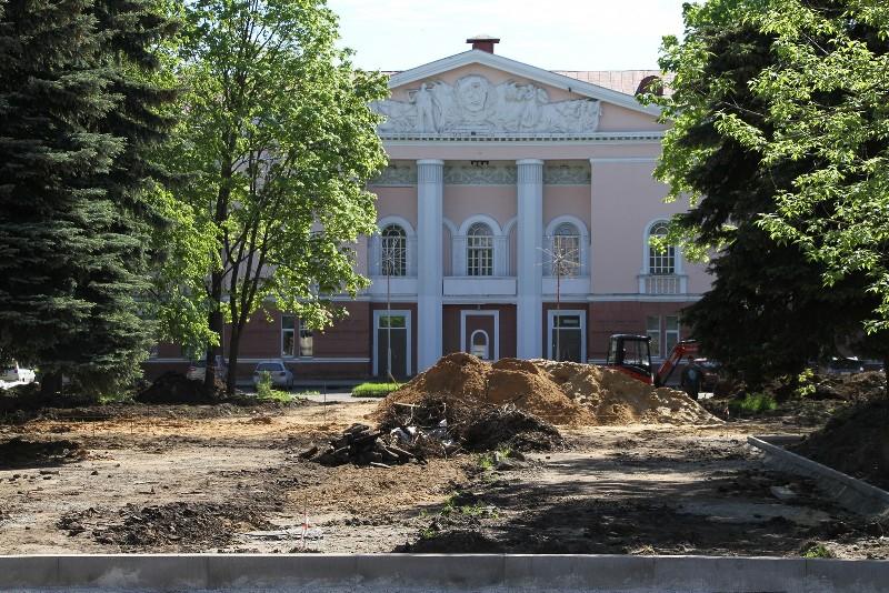 В Рыбинске закончат благоустройство Комсомольской площади в конце июля