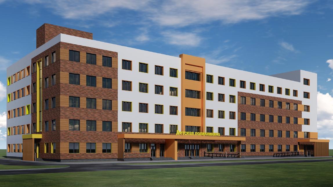 Фасады новой детской поликлиники в Рыбинске будут оформлены в светлых тонах