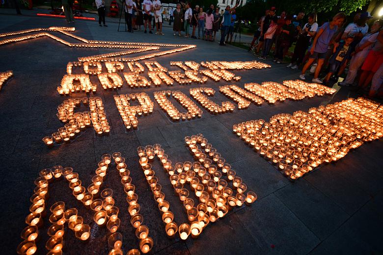 В Ярославле зажгли 6000 свечей в рамках акции в День памяти и скорби
