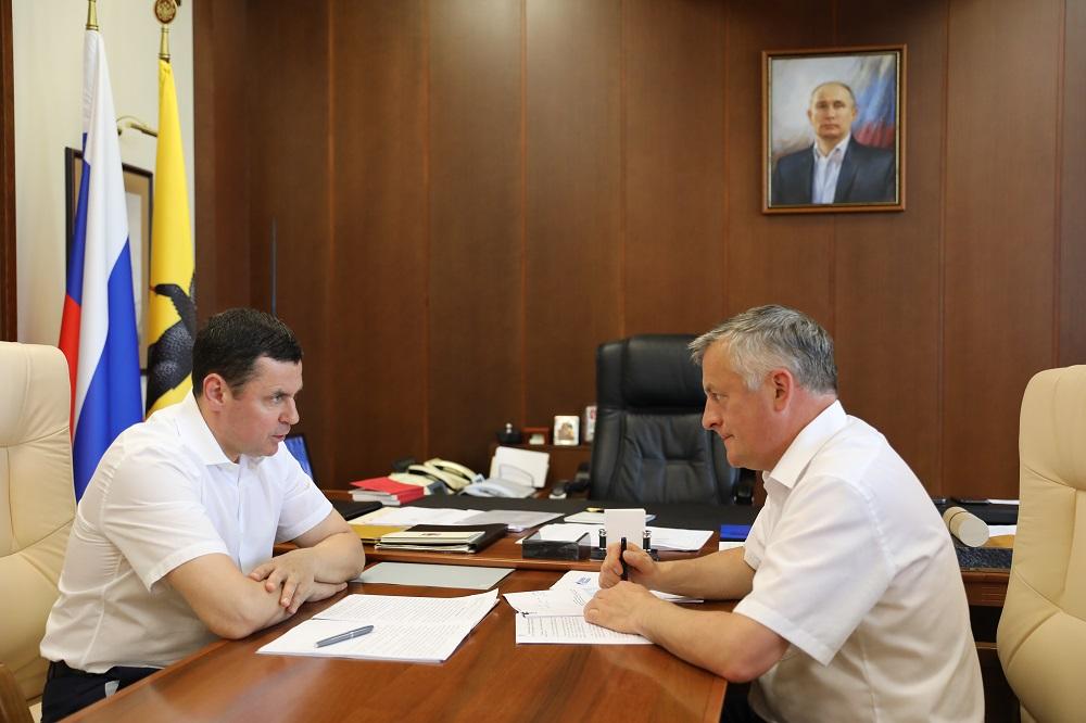 Глава региона и генеральный директор ООО «Газпром межрегионгаз» обсудили ход газификации населенных пунктов