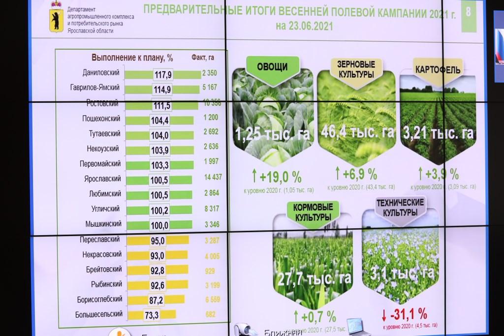 Ярославская область – во всероссийской пятерке лидеров в освоении средств на сезонно-полевые работы