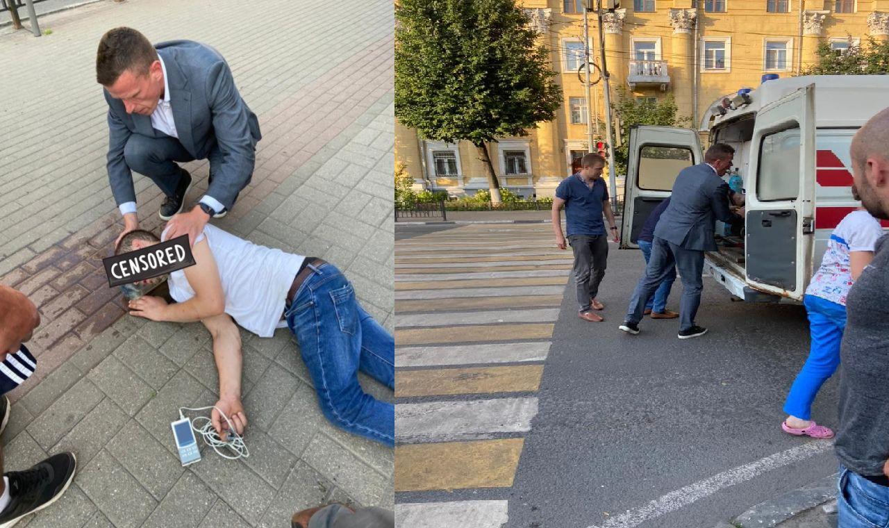 Глава департамента здравоохранения Ярославской области пришел на помощь пострадавшему от жары человеку