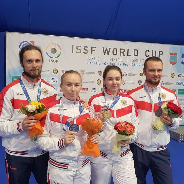 Ярославна Анастасия Галашина завоевала две медали на Кубке мира по пулевой и стендовой стрельбе