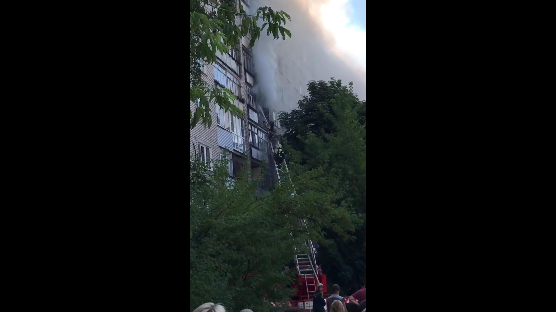 В Ярославле из горящей многоэтажки эвакуировали жильцов
