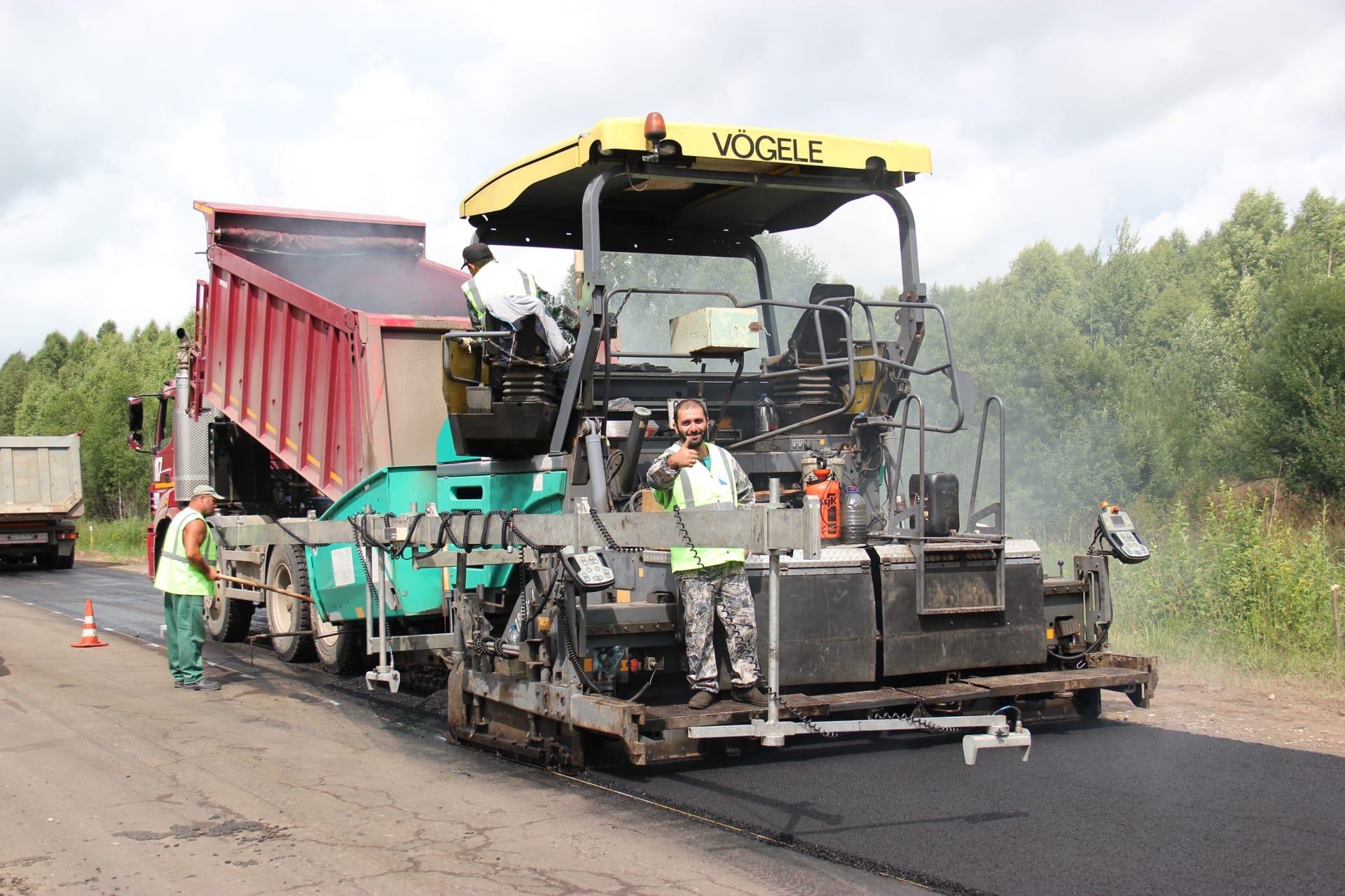 Дорогу Говырино – Дмитриевское – Нагорье ремонтируют в рамках нацпроекта