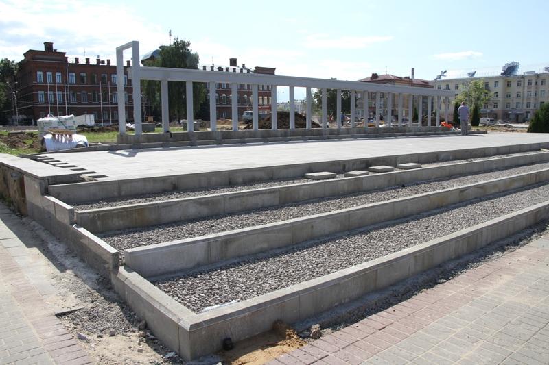 В Рыбинске подрядчик не успевает благоустроить объекты к Дню города