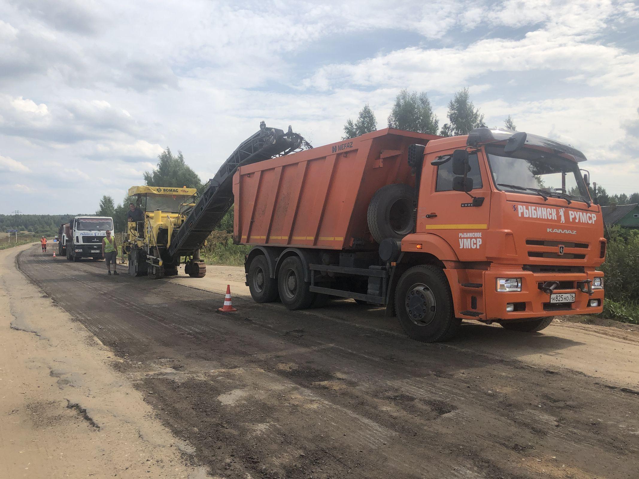 Начался ремонт дороги Нерехта – Рождествено – Бурмакино