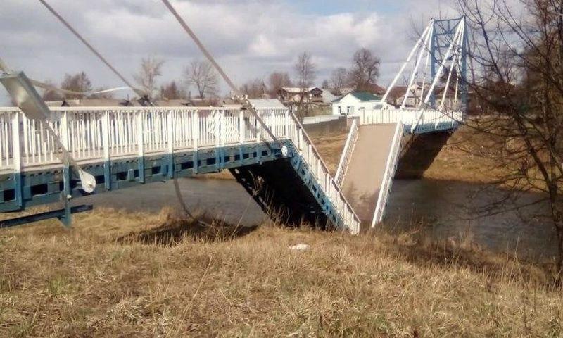 В Ярославской области восстановят обрушившийся мост через реку Устье
