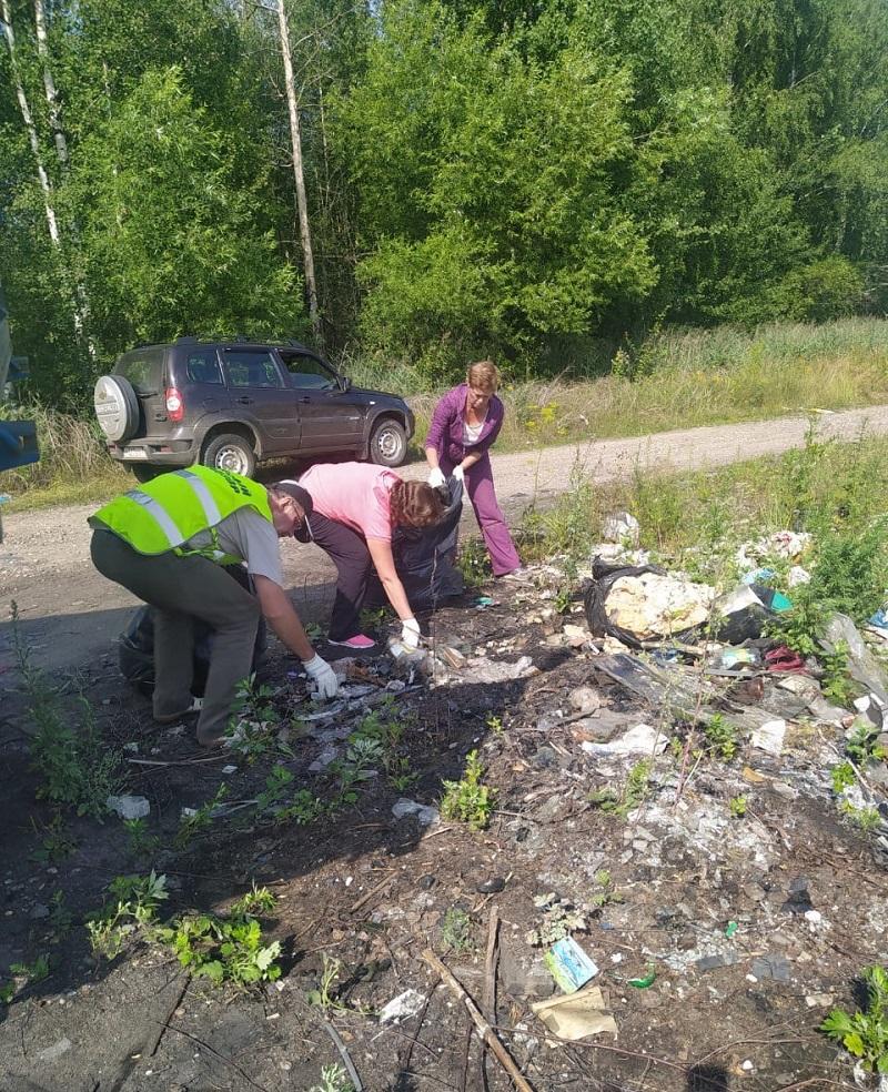 Более 130 кубометров мусора убрано с территории лесного фонда области в этом году