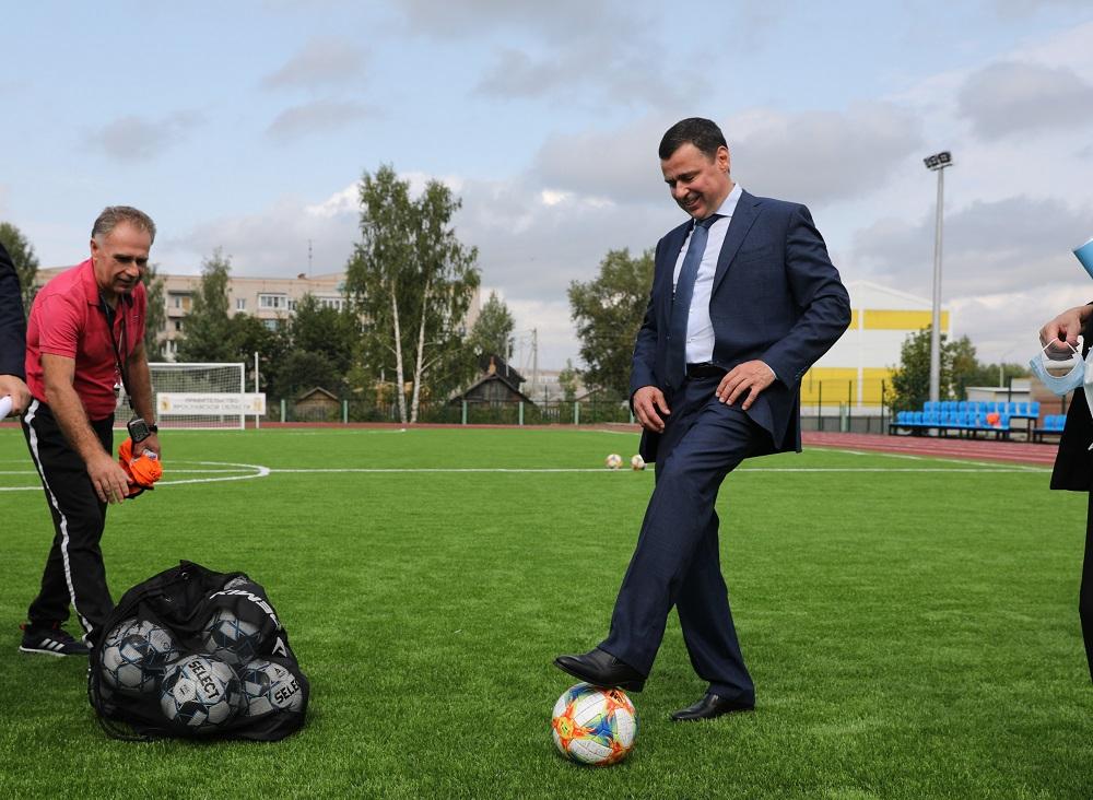 Дмитрий Миронов открыл в Гаврилов-Яме новый стадион
