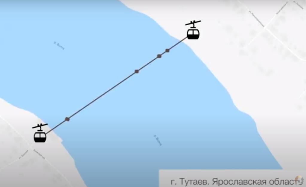 Стало известно, когда начнут строить канатную дорогу через Волгу в Ярославской области