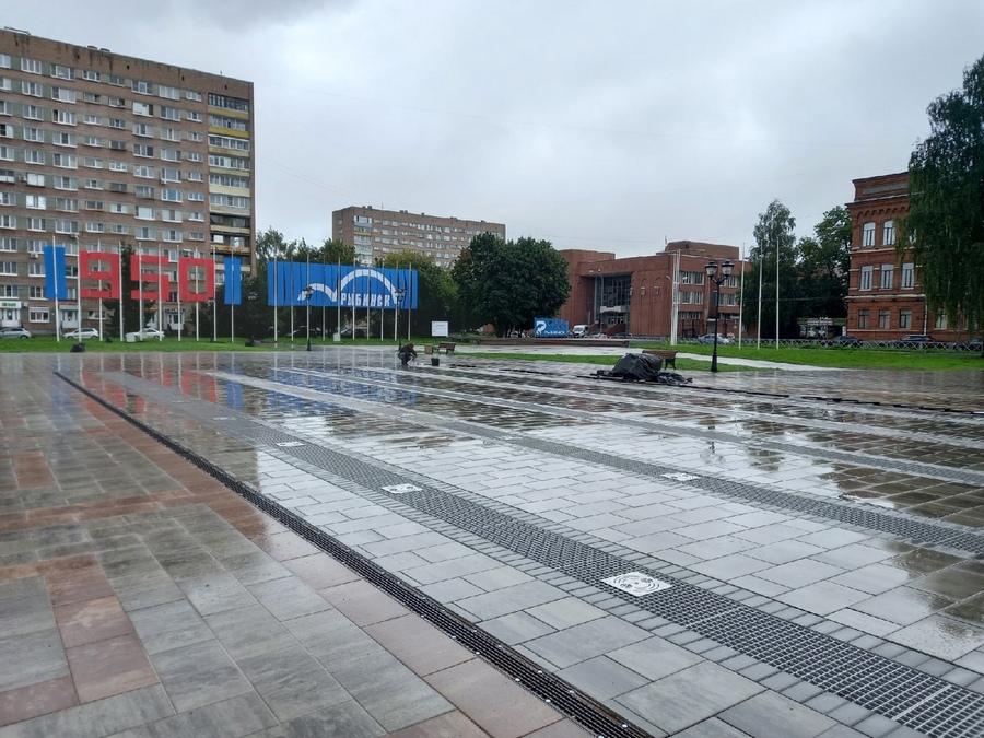 В День знаний в Рыбинске повторно запустят фонтан на площади Дерунова