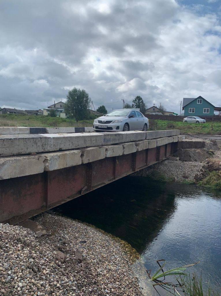 В Ярославской области открыли движение по временному мосту через реку Лахость