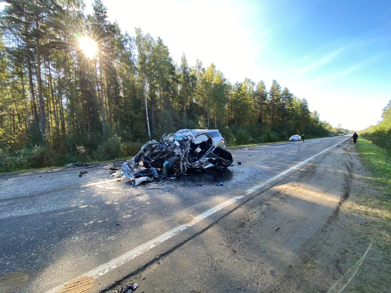 В Ярославской области иномарка столкнулась с грузовиком: погиб человек