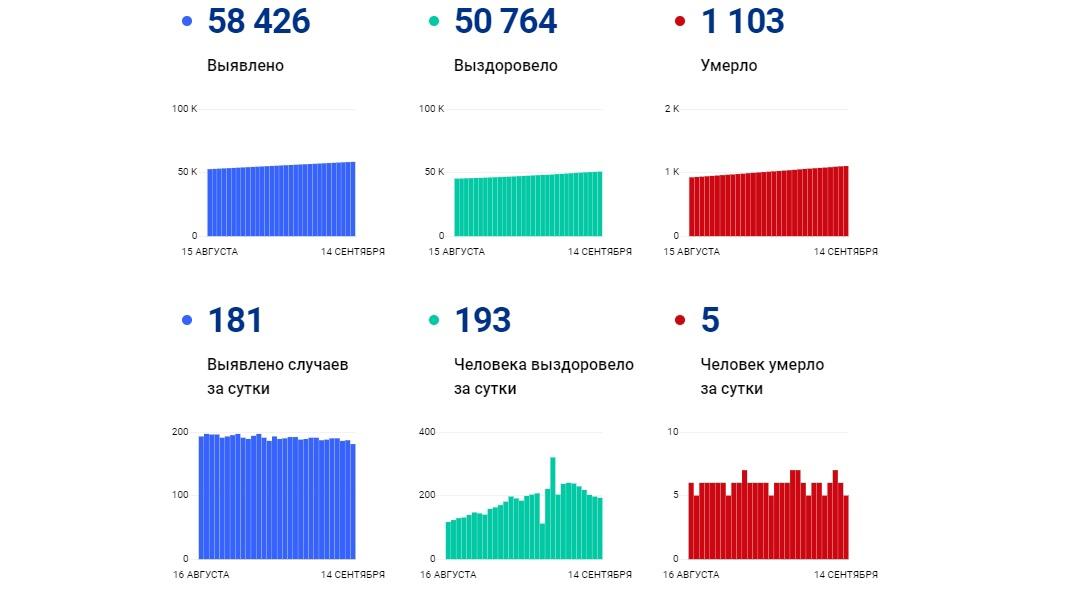В Ярославской области за сутки выявили 181 новый случай коронавируса, пять человек скончались