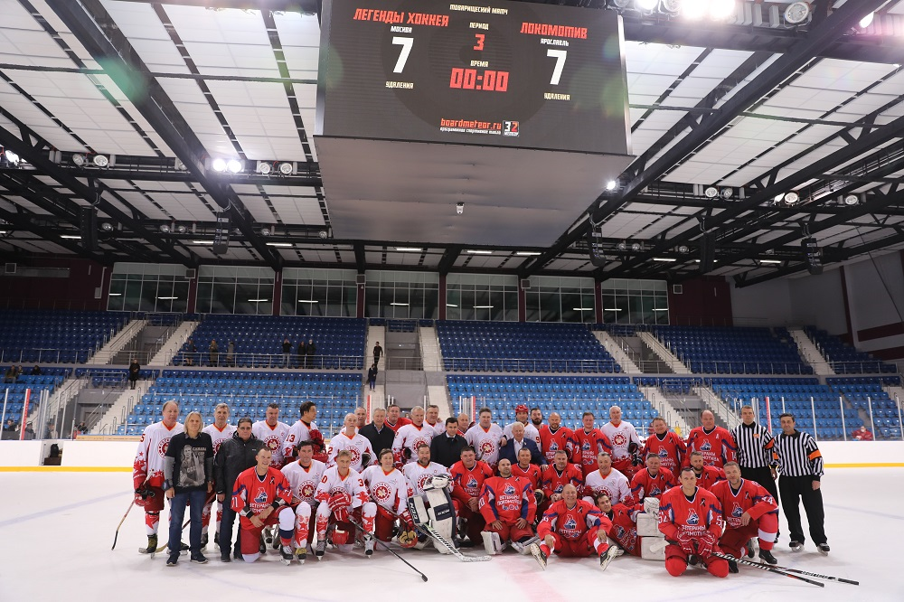 Товарищеский матч в честь 40-летия победы сборной СССР в Кубке Канады – 81 прошел в Ярославле