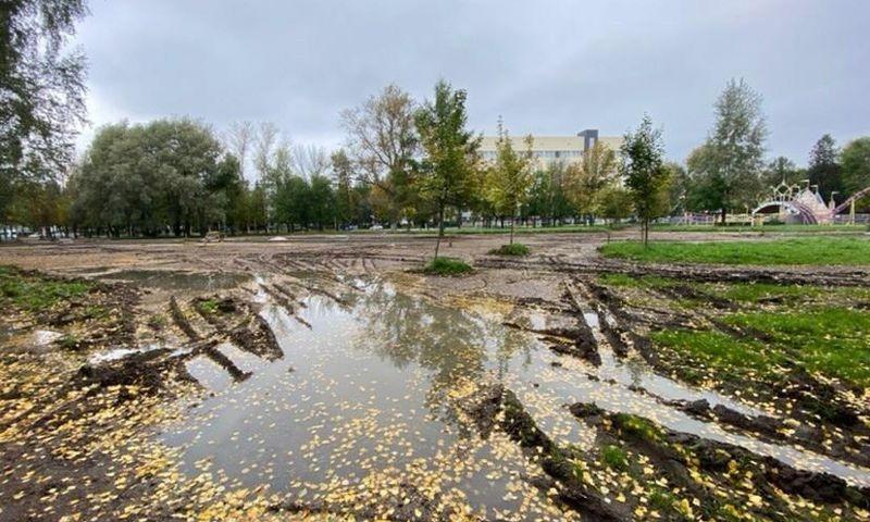 В мэрии Ярославля назвали новый срок завершения работ в Юбилейном парке