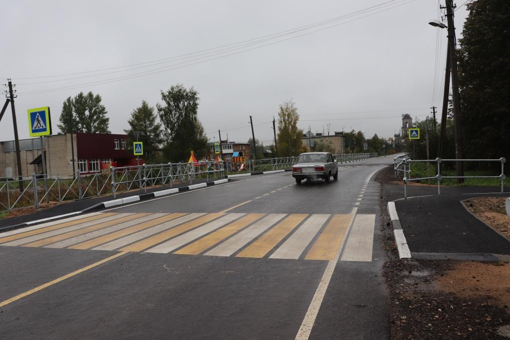 Отремонтирована дорога к селу Ширинье в Ярославском районе