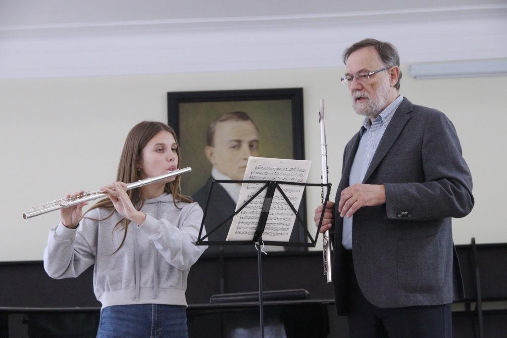 Участие в сентябрьской сессии регионального центра Юрия Башмета приняли юные флейтисты и тромбонисты