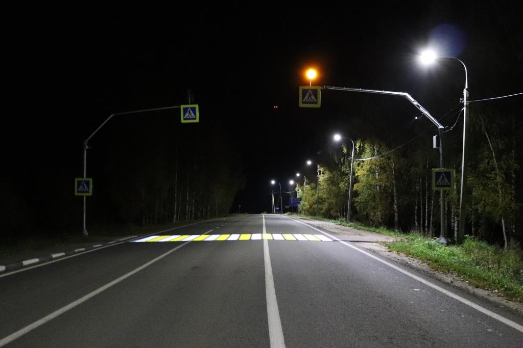 23 проекционных пешеходных перехода обустроили на дорогах Ярославской области