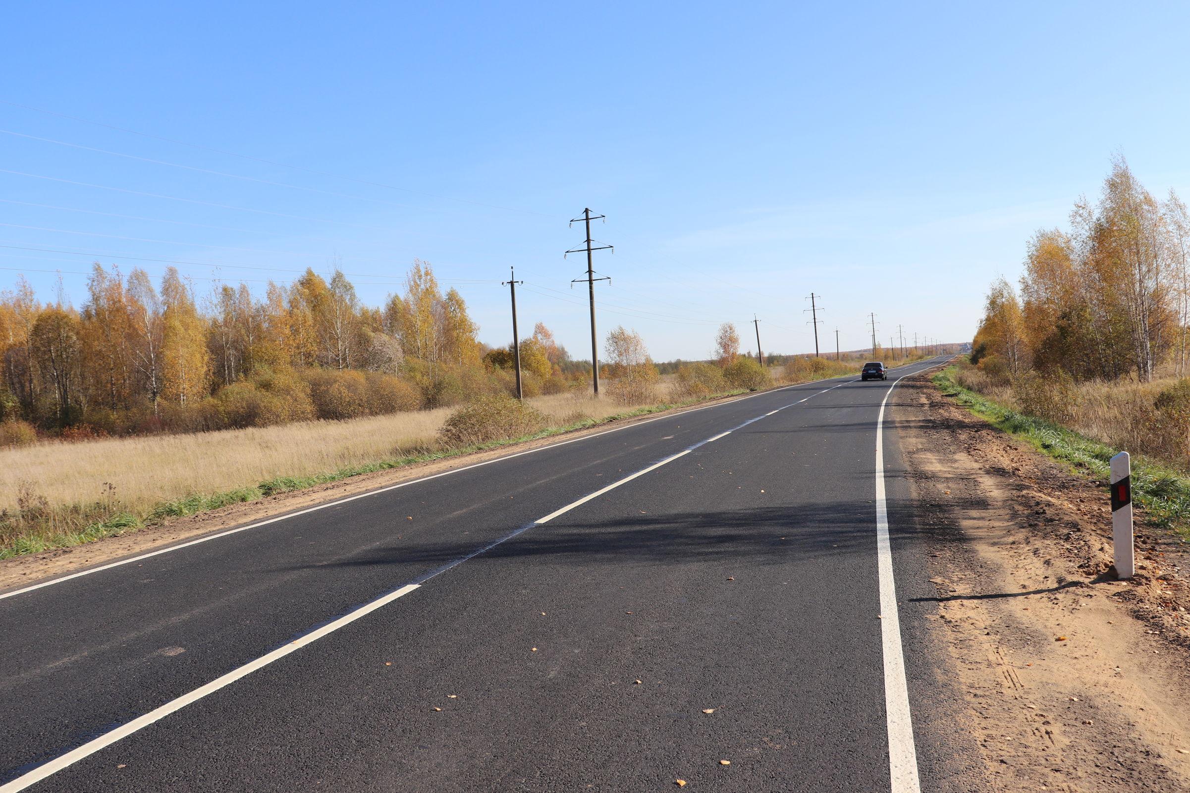 В Ярославской области завершили ремонт участка дороги Нерехта – Рождествено – Бурмакино
