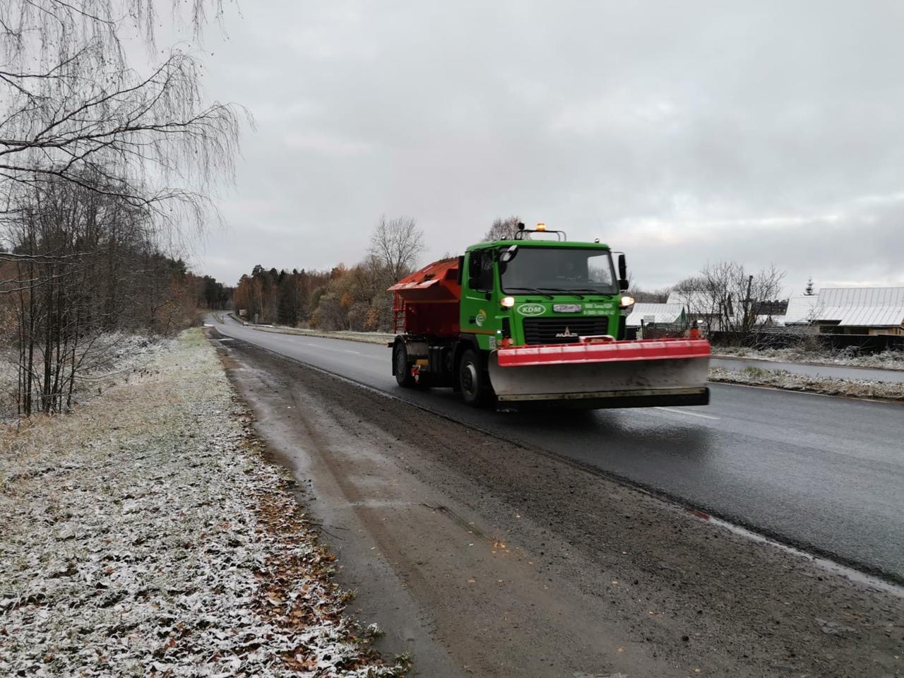 На дороги Рыбинска уже вышла снегоуборочная техника