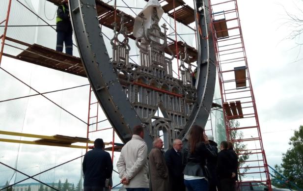 В Ярославле поставили новую стелу при въезде из Москвы