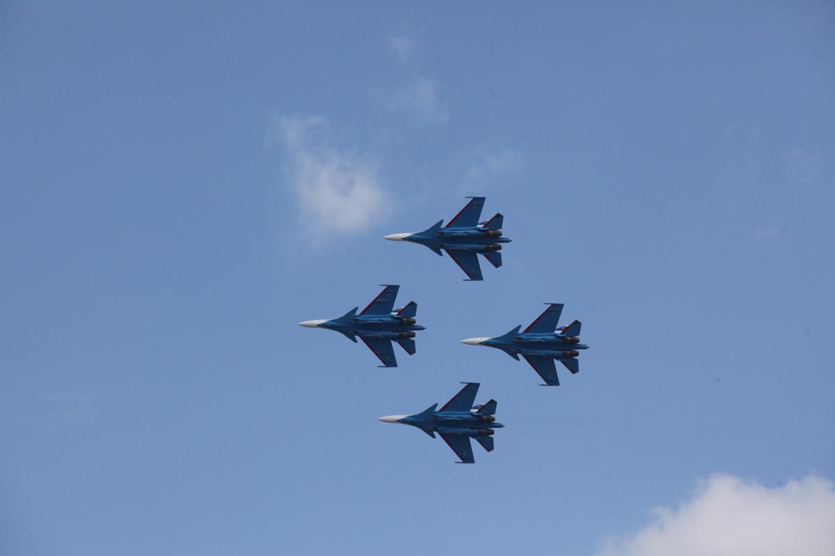 В центре Ярославля состоится авиашоу «Русских витязей»