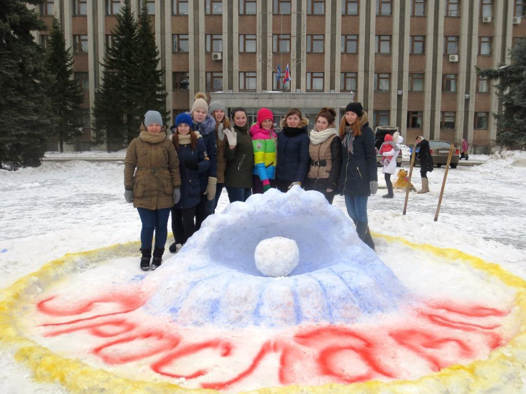 В Красноперекопском районе Ярославля дети создали «снежный торт»