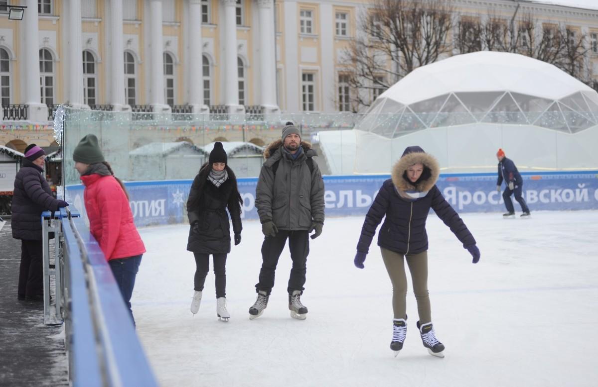 В Ярославле на масленичной неделе продолжит работать каток на Советской площади