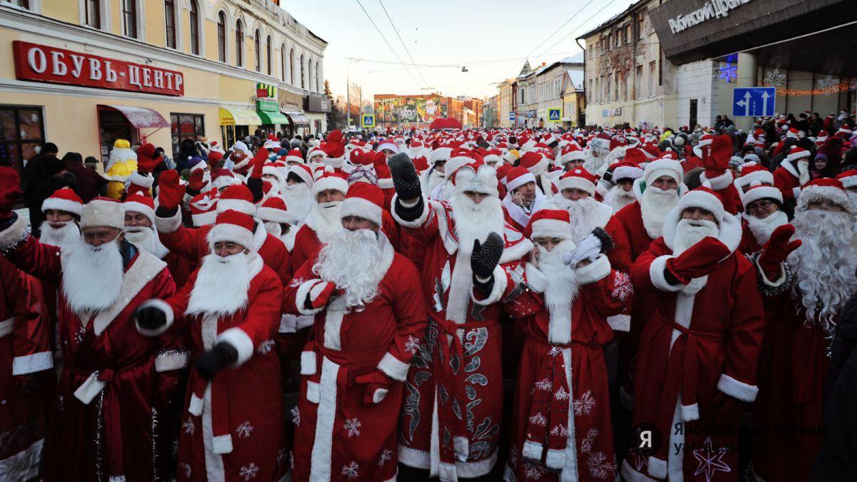 В Рыбинске на время шествия Дедов Морозов перекроют движение