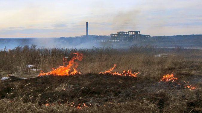Под Ярославлем сгорели два дома, пламя перекинулось на поле
