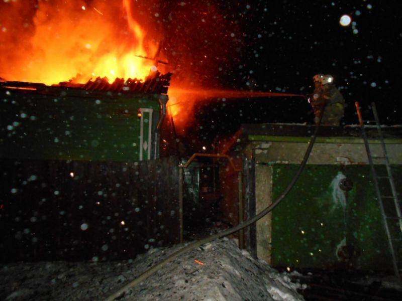 В Угличском районе сгорел частный дом