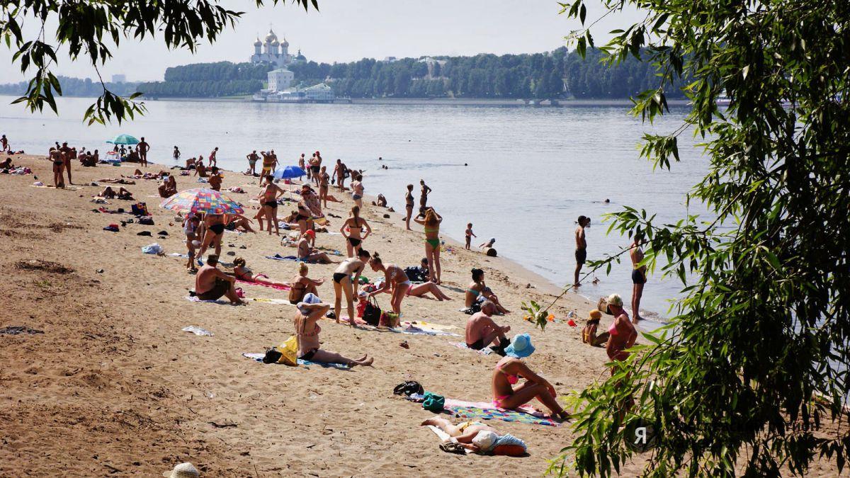 Ярославцам напомнили о запрете купания на пляжах