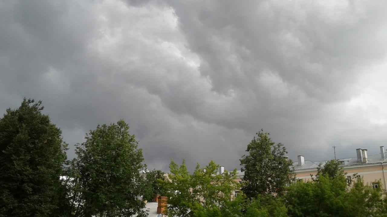 ГУ МЧС по Ярославской области опубликовало экстренное предупреждение о ливне, грозе и сильном ветре