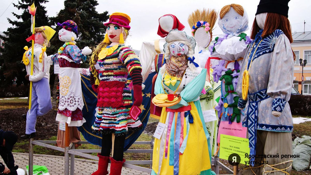 В Ярославле масленичных кукол установят 12 февраля