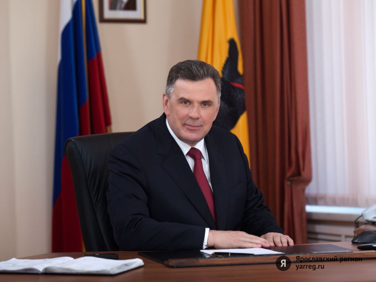 Поздравление губернатора Ярославской области Сергея Ястребова с Днем защитника Отечества