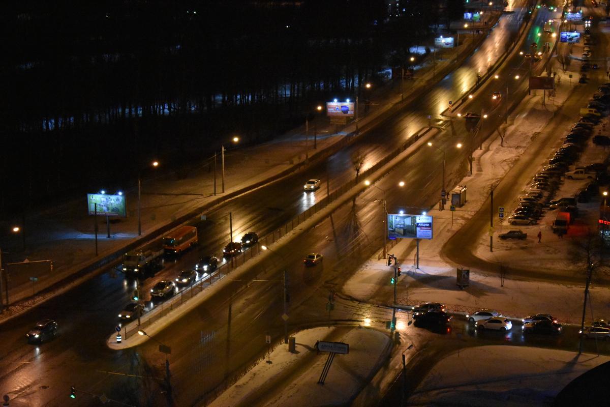 В Ярославле ГИБДД обратила внимание мэрии на отсутствие уличного освещения