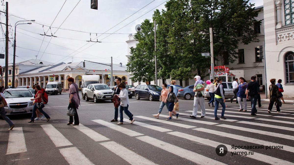 В Ярославле на знаки «Пешеходный переход» установили световые индикаторы
