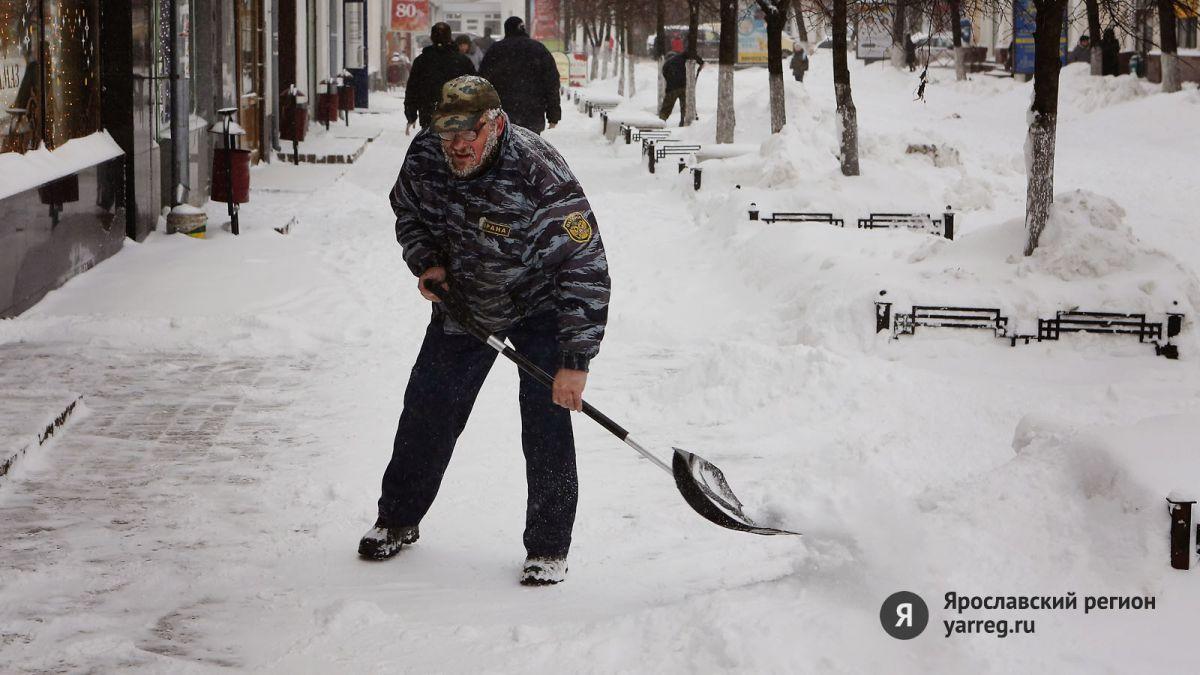 В Ярославле почти тысяча дворников вышли на уборку дворов от снега