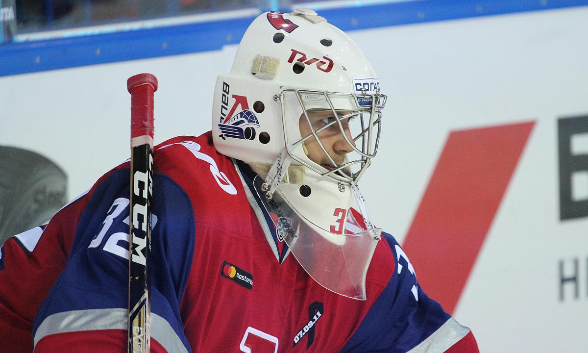Вратарь «Локомотива» Коновалов стал лучшим новичком недели в КХЛ