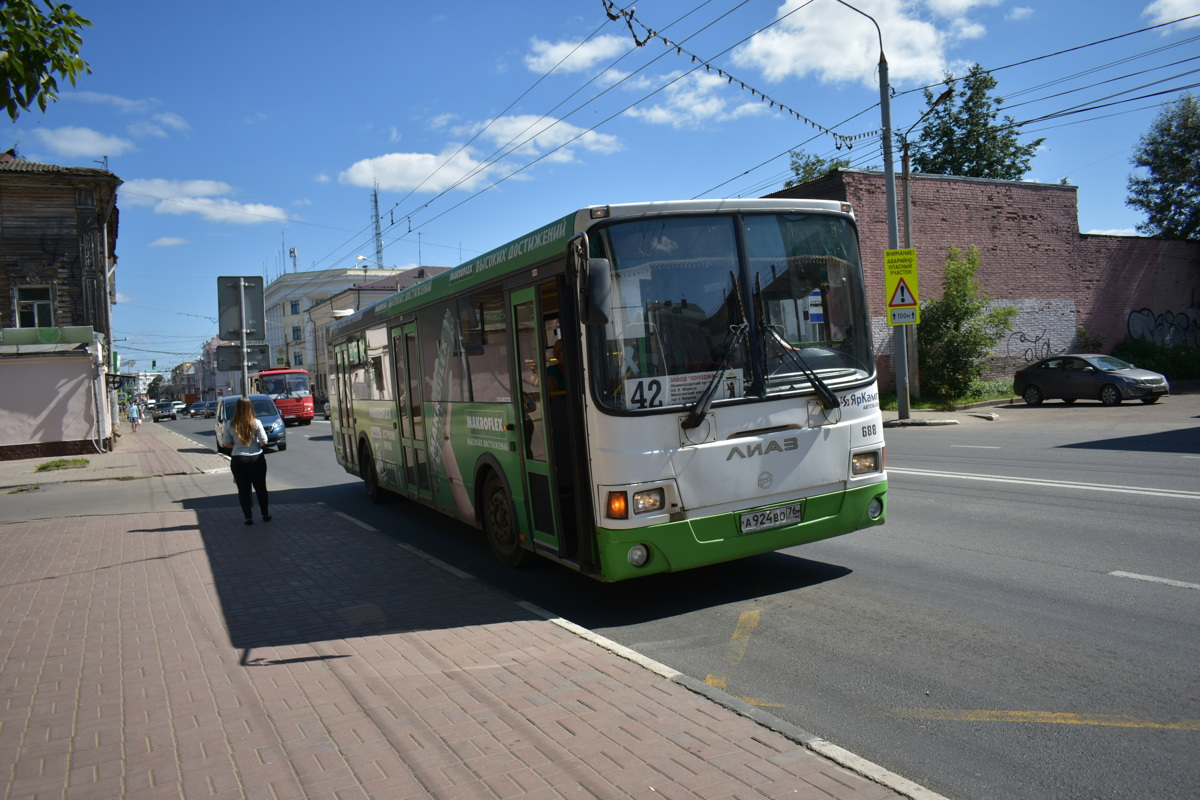 В Ярославле меняется расписание движения автобуса №42