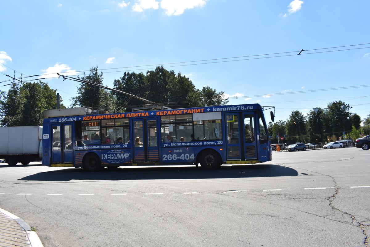 В Ярославле в июне изменится расписание троллейбуса №5