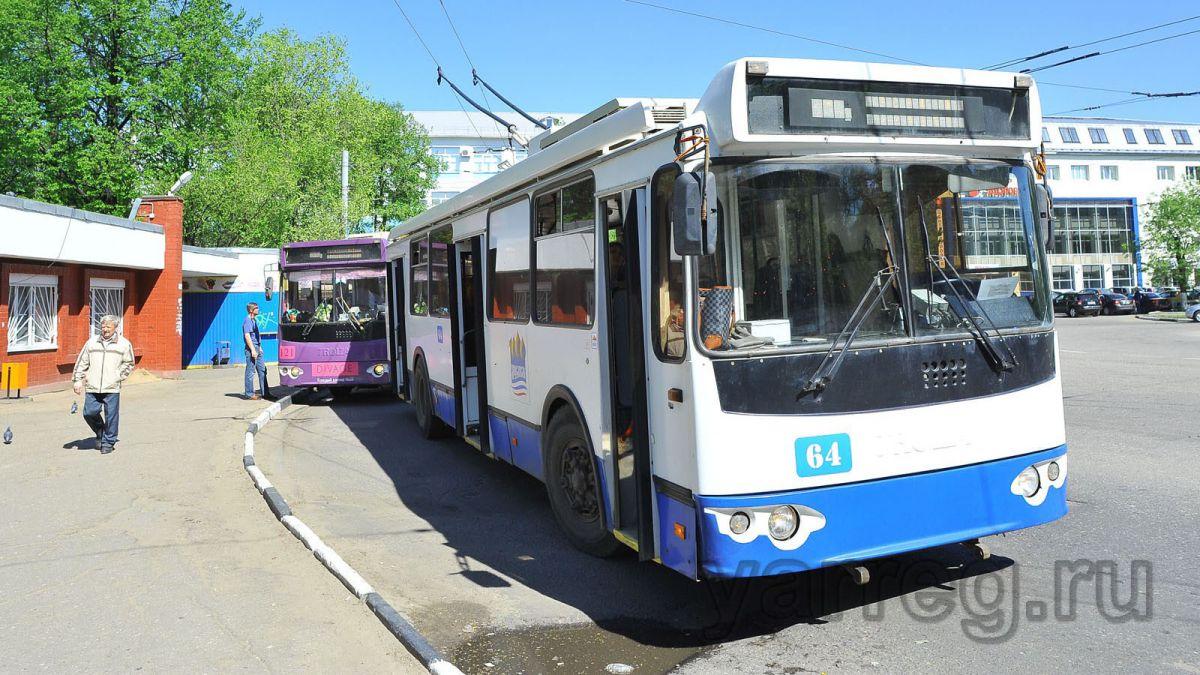 Маршрут ярославского троллейбуса № 5 сократили до Богоявленской площади